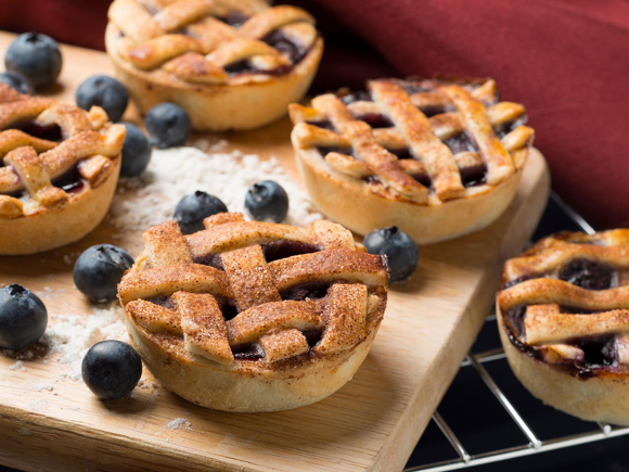 Baby Blueberry Pies