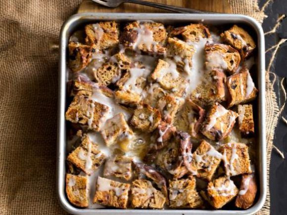 Caramel Apple Overnight French Toast Casserole