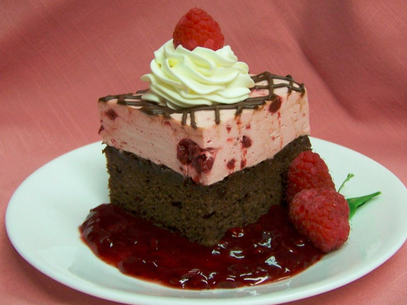 Raspberry Mousse Brownies