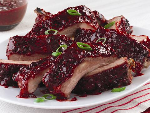 Red Raspberry Glazed Onion and Ruby Red Ribs