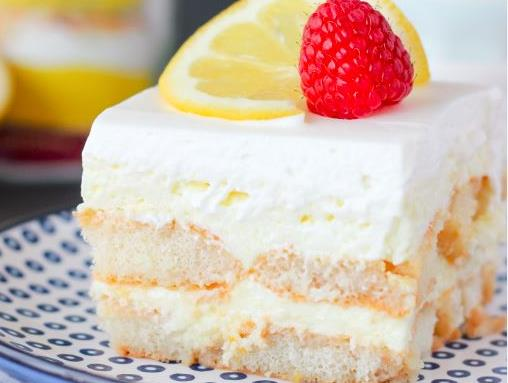 No Bake Lemon Shortcake Icebox Cake